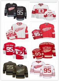 Wholesale 95 suzuki - Detroit Red Wings Jersey #95 Dennis Cholowski men#WOMEN#YOUTH#Men's Baseball Jersey Majestic Stitched Professional sportswear