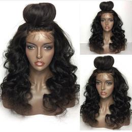Parrucche brasiliane online-Parrucche su misura per capelli umani 10A per donne nere Brasiliane peruviane Big Bodywave Loosewave parrucche piene in pizzo e parrucche anteriori in pizzo
