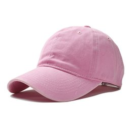 Cappello da lavare online-2018 lavato berretto da baseball montato snapback regolabili semplici cappelli solidi per le donne uomini osso gorras casquette chapeu coppia