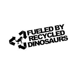 Riciclare gli adesivi online-Adesivo per auto all'ingrosso alimentato da dinosauri riciclati Jdm Vinyl Decals Glass Scratches Paraurti Portellone Accessori moda