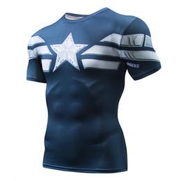 2019 camisa de compresión de hombre de hierro Marvel Superhero Camisa de compresión Iron man Medias Gimnasio Ciclismo Capa base Hombres Fitness Sports Jersey Gym Clothin rebajas camisa de compresión de hombre de hierro