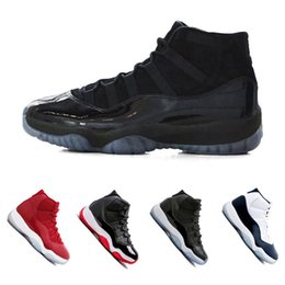 Wholesale Prom Shoes Brown - 11 Prom Night XI Cap and Gown 11s Gym Red PRM Heiress Midnight Navy women Men Basketball Shoes Bred Space Jam Sport Sneakers