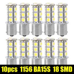 2019 1156 ba15s smd led 10шт 1156 BA15S / 1141 / 1073 / 1095 база 18 SMD 5050 LED замена авто сигнал автомобиля свет лампы 12 в супер белый дешево 1156 ba15s smd led