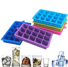 square silicone ice cube tray Coupons - 15 Grid Chocolate Ice Maker Tray Ice Cube Mold Silicone DIY Mould Square Shape Silicone Ice Tray Kitchen Bar Tools