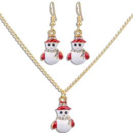 2019 Рождество ожерелье серьги набор подарок мода многоцветный капает масло Новый год ювелирные изделия от Поставщики регулируемые ожерелья