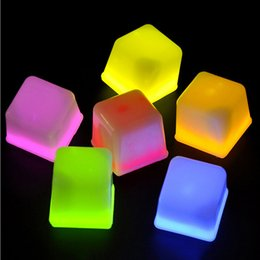 Wholesale glow party cups - LED Glowing Ice Cubes Wedding Festival Decorating Wine Cup Decor Party Props Luminous Novelty Sparkling Lights