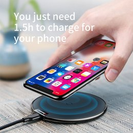 Wholesale Phone Charger Docking Station - Baseus Wireless Charger Pad For iPhone 8 Qi Fast Charging Mobile Phone Desktop Wireless Charging Dock Station