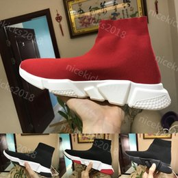 Wholesale Stretch Light - Sock Shoe Speed Trainer Running Shoes high quality Speed Trainer running shoes for men and women sports Speed stretch-knit