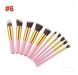 pequenas escovas de kit de maquiagem Desconto 6 cores de maquiagem pincéis definir mini estilo 5 big + 5 pequeno de alta qualidade compo ferramentas cosméticos brushes kit BR002