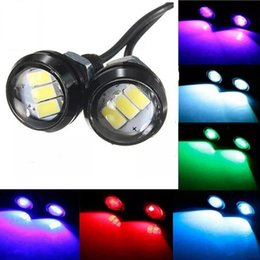 luce del motociclo Sconti LED Eagle Eye Reverse Lampada Moto Car Interior Door Luci decorative Moto Vite Lampada fonte impermeabile Car Styling OOA5672