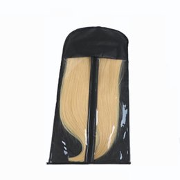 Schwarze beutelhaarverlängerung online-Schwarze Haarverlängerung Packsack Träger Lagerung Perücke steht Haarverlängerungen Tasche für Carring und Verpackung Haarverlängerungen