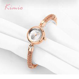 2019 marca kimio KIMIO Brand Mesh Strap Pulsera Relojes Mujeres Mujeres Multi Cutting Surface Mirror Dress Reloj de pulsera de cuarzo h Horloge rebajas marca kimio