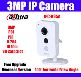 2019 micrófono IPC-K35A Cámara de red PoE serie 3MP K H.264 Ranura para tarjeta SD POE IR 10m MicSpeaker incorporado PIR Reemplace DS-2CD2442FWD-IW IP Cam micrófono baratos