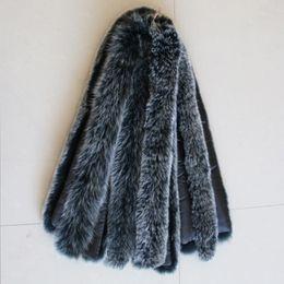 Wholesale Real Fur Scarfs - Real Fur collar 100% Natural Fox Fur Unisex Woman Man Winter Fashion Warm 70cm Length 10cm Width Coat Down Jacker Collar Scarf