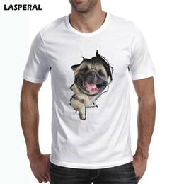 Wholesale Funny Bulldog - LASPERAL Fashion 3D Men Summer T Shirt French Bulldog Design T Shirt Hipster Tees Men Plus Size Dog Funny Tops