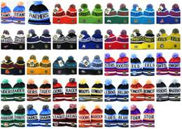 Wholesale Hats Wholesalers Canada - New NRL Team Beanies Caps Sports Hats Types winter knitted hats free shipping by EMS DHL to USA Canada Australia mix order album offered
