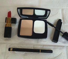 Wholesale halloween mascara - Hot Makeup Brand makeup set Kollection Lipstick Eyeliner Face powder Mascara 4 in 1 makeup kit High Quality DHL shipping