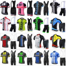 Wholesale giant cycling jersey white - GIANT team Cycling Short Sleeves jersey (bib) shorts sets men Bicycle Clothing Hot Summer Indispensable E0544