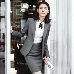 a23028503764 Women Skirt suits blazer+skirt sets 2 3 4 pieces set office lady formal  unifor jacket+bottom female work wear costume interview