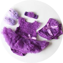 Filles Tutu Robe Violet Bébé Court Barboteuse Vêtements Pour Enfants Ensembles Danse Jupe Dentelle Pettiskirt Enfants Vêtements Chaussures ? partir de fabricateur