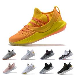 2019 china asien Hochwertige neue Stephen Curry 5 Asien Tour China Exklusive Stephen Curry Schuhe 3021708 700 Gelb Orange 2018 Herren Basketballschuhe günstig china asien
