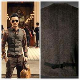 Wholesale Wedding Suit For Chinese Men - New Mens Double Breasted Vest Dress Suit Vest for Men Formal Waistcoat Slim Fit Wedding Business Jacket