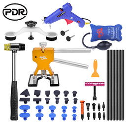Wholesale auto car repair kit - PDR Tools Paintless Dent Removal Car Repair Tool Kit Removing Dents Auto Tools Puller Dent Lifter Pulling Bridge Suction Cups