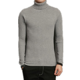 Wholesale Mens Wool Turtleneck Sweaters - New 2017 Winter Mens Sweaters and Pullovers Men High Elastic Brand Sweater Male Outerwear Jumper Knitted Turtleneck Sweaters 4XL