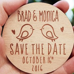 Wholesale rustic wedding favors - Wooden Save the Date Magnets, Rustic Wooden Magnets, Wedding Favors with Birds, Fridge Magnet, Wedding Invitation, Tags