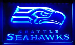 Wholesale football signings - LS003-b Seattle Football LED Neon Light Sign Decor Free Shipping Dropshipping Wholesale 8 colors to choose