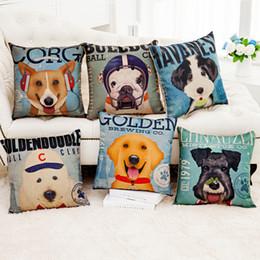 grandi linee Sconti Fodere per cuscini modello bel cane Linea stampa digitale divano federa Cuscino quadrato per ufficio Home regalo grande cane amante
