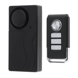 Wholesale Window Vibration Sensors - 433Hz Wireless Remote Control Vibration Alarm Sensor Home Door Window Entry Burglar Security Alarm Safety Guardian Protector System SAM_40B