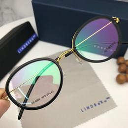 c628aee22723 Handmade Linderbg CE6008 glasses Oval-shape titanium glasses 52-19-145  ultra-light prescription glasses no-screw designer full-set case