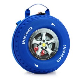 Wholesale Wheels School Bags - For Children the car wheel School Bag Children 3D Creative mini wheel bag shoulder bag baby boys and girls small backpack