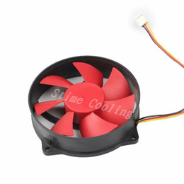 9cm fan Promo Codes - dc cooling fan 10pcs set DC cooling fan 12V 3pin Red Round 9CM 90mm 9525 Computer CPU Cooler