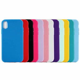 silicone rubber cover case for iphone Promo Codes - Glossy Candy Solid Soft TPU Case For Iphone XR 6.1 XS MAX 6.5inch X XS Colorful Cover Crystal Silicone Fashion Cellphone Rubber Skin