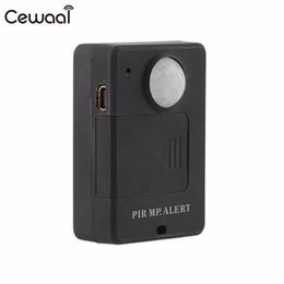 polizeikörper kameras Rabatt Cewaal Wireless Mini Infrarotsensor Diebstahlschutz Bewegungsmelder GSM Alarm Erkennung Monitor RC Drahtlose 5-8 mt Hohe Empfindlichkeit