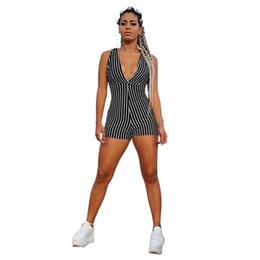 tracksuit jumpsuits Australia - Sleeveless Skinny Striped V neck Jumpsuit custom Jogging Suit Tracksuit Sports Sweat Suit french terry fleece velvet velour suits