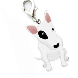 Wholesale Wholesale Dog Items - Mini Alloy pet supply cat dog pendant tags bull terrier identity ID hanging collar jewelry items bullterrier for small puppy