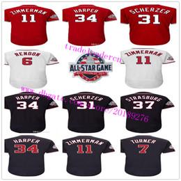 Wholesale M Max - Washington 2018 All-Star Game Bryce Harper Trea Turner Anthony Rendon Ryan Zimmerman Max Scherzer Daniel Murphy Strasburg Baseball Jerseys