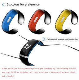 Wholesale oled iphone - 2018 L12S OLED Touch screen Bluetooth Bracelet Wrist Watch sports bracelet Watch for IOS iPhone and Android Phone Call Answer SMS Reminding