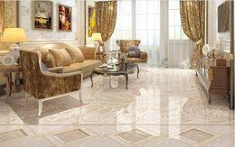 Murais de azulejos de banheiro on-line-Personalizado foto piso papel de parede 3D mármore sala de estar banheiro 3D piso telhas mural pvc autoadesivo papel de parede rolo