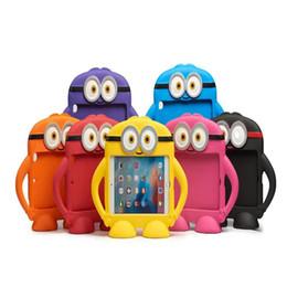 guia de cores da tabuleta Desconto Nova moda bonito crianças protetora à prova de choque 3d dos desenhos animados eva minion case capa para ipad mini 1/2/3 de volta case