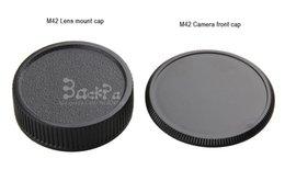 Wholesale Body Mount - 10PCS 2-In-1 m42 lens cap camera body protective cover thread mount