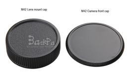 Wholesale M42 Lens Cap - 10PCS 2-In-1 m42 lens cap camera body protective cover thread mount