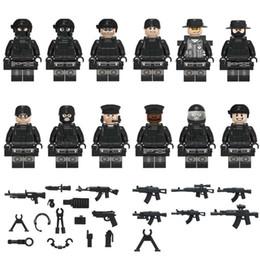 12 pezzi COD SWAT Mini Toy Figure Forze speciali Figura polizia con armi Mini Building Block Costruzione Toy Figure for Boy Kid da
