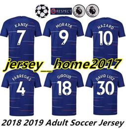 MORATA soccer jersey Hazard BAKAYOKO RUDIGER jersey 18 19 football shirt  2018 2019 Fabregas KANTE BARKLEY camisetas de futbol 56bc137c9