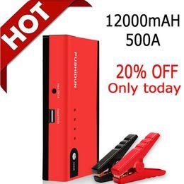 câble usb usb Promotion PUSHIDUN Portable Jump Starter 12000mAh 500A Peak Auto Batterie avec pinces ordinaires et deux en un YuBao USB Cable