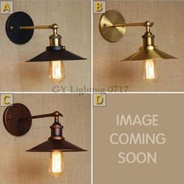 Wholesale Church Lamp - 110V 120v 220v 230v 240V Wall sconces lamps gold Rustic nostalgic villa church aisle umbrella decorative wall light sconce fixture