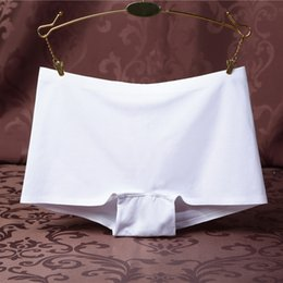 Wholesale Cotton Boxer Shorts Seamless - BONJEAN women boxer shorts underwear seamless cotton panties Ice-silk No trace female Underpants large size female Briefs